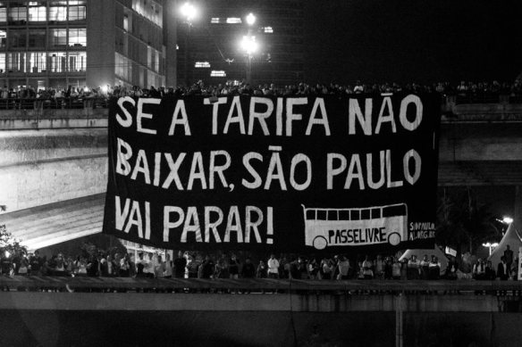 """São Paulo will shut down if the fare doesn't go down!"""